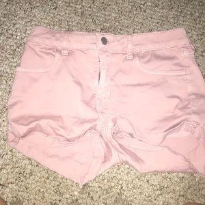 Pink Bull head denim co size 4 waste 26 shorts